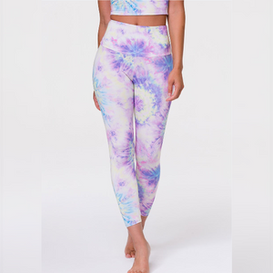 Onzie High Rise Midi Leggings  Neon Tie Dye