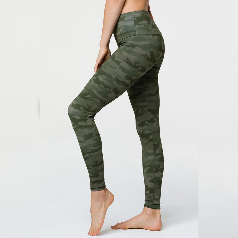 Onzie High Rise Leggings Moss Camo