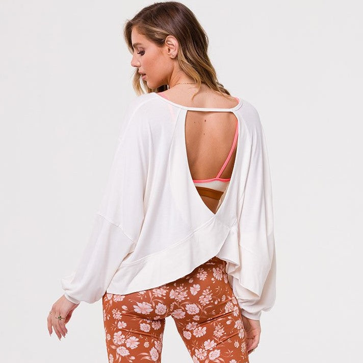 Onzie OM Long Sleeve Top Ivory