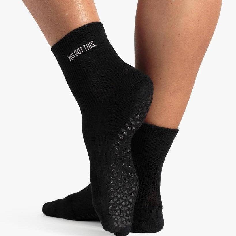 Pointe Studio You Got This Ankle Grip Sock Black
