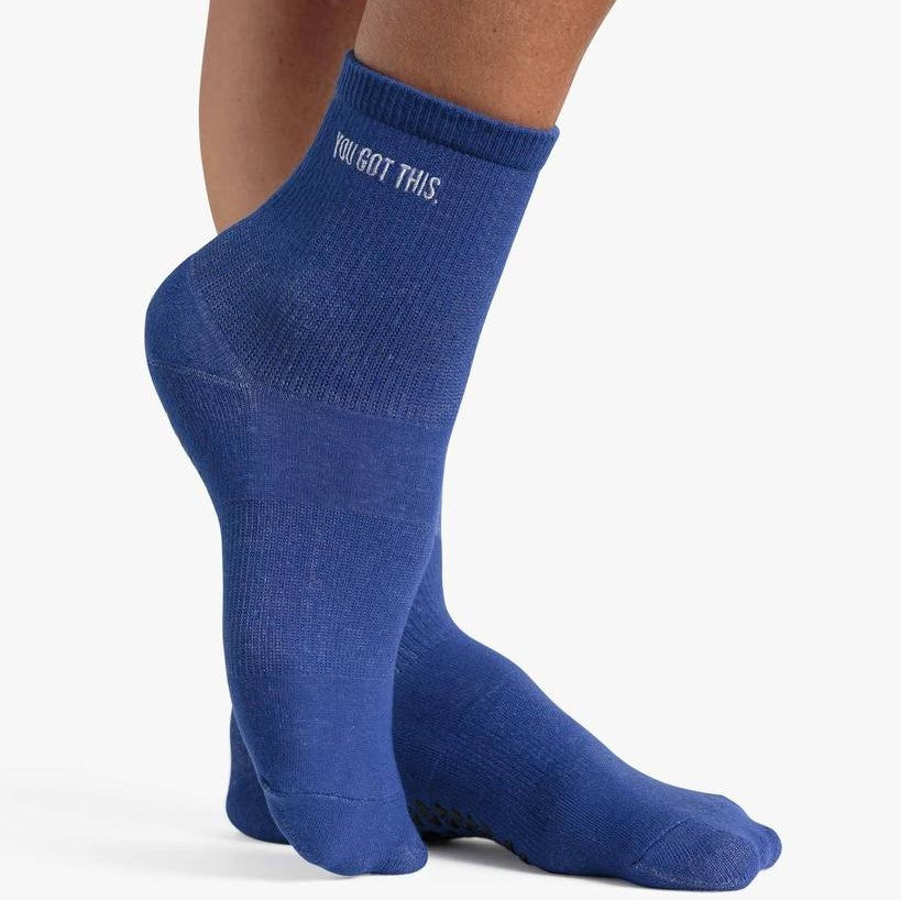 Pointe Studio You Got This -Blue Ankle Grip Socks