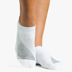 Pointe Studio Heavy Metal Grip Sock White Silver
