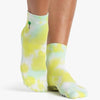 Pointe Studio Jamie Ankle Grip Sock Green Teal