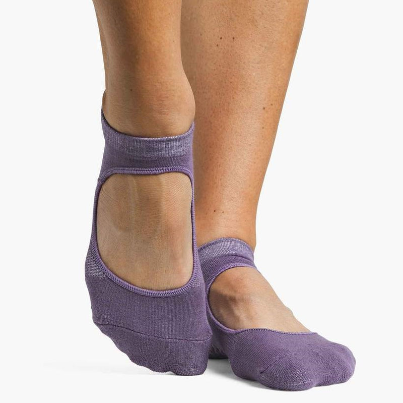 Pointe Studio Josie Grip Strap Sock Grape Jam