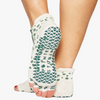 Pointe Studio Dots Toeless Grip Sock Dark Green