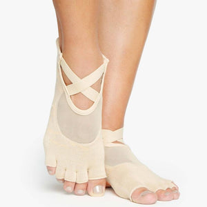 Pointe Studio Dunes Toeless Grip Sock Sand