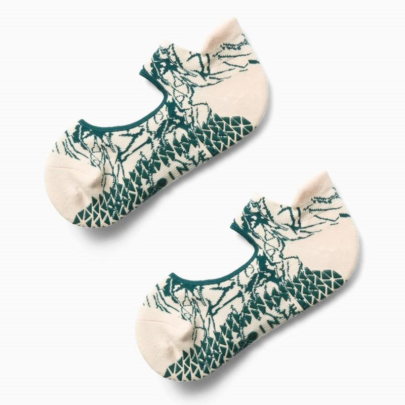 Pointe Studio Marble Grip Strap Socks - Porcelain