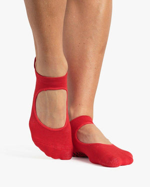 Pointe Studio Skye Red Grip Strap Sock