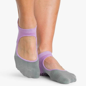 Pointe Studio Nina Grip Sock Purple Grey