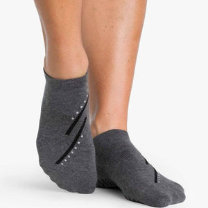Pointe Studio Macie Grip Sock Charcoal Black