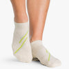 Pointe Studio Macie Grip Sock Oatmeal Green