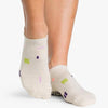 Pointe Studio Slate Grip Sock Oatmeal Purple