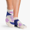 Pointe Studio Steph Grip Sock Oatmeal Purple