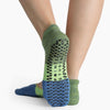 Pointe Studio Tess Grip Sock Navy Green