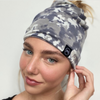 Pretty Simple Me Multi-functional Beanie Face Covering Black Grey Tie Dye