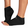 Ro & Arrows Rhiannon Low Show Open toe Grip Socks - Black Solid