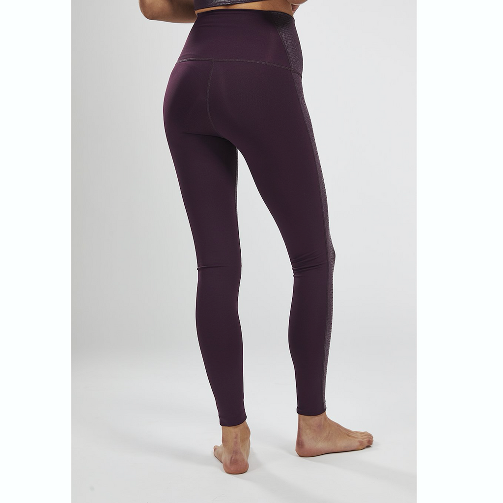 Burgundy Reptile Movement Leggings