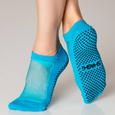 shashi classic regular toe blue grip sock