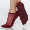 shashi classic regular toe cabernet grip sock