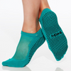 shashi classic regular toe peacock blue grip sock