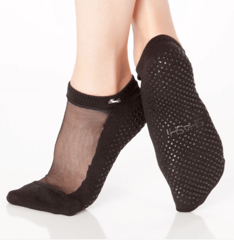 shashi classic regular toe rose grip sock