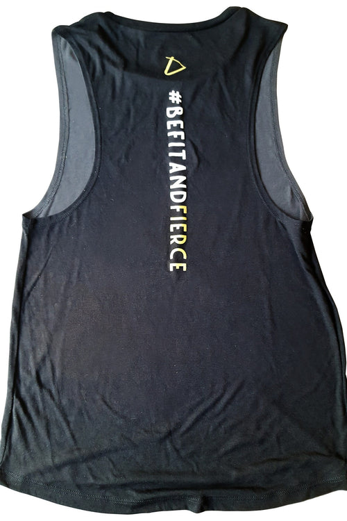 Be Fit and Fierce Muscle Tank - simplyWORKOUT