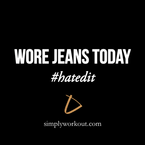Wore Jeans Today - Decal - simplyWORKOUT