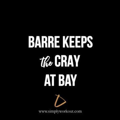 Barre Keeps the Cray at Bay - Decal - simplyWORKOUT