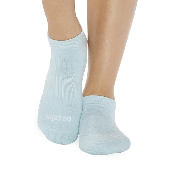 Sticky Be Be Calm Sky White Grip Socks