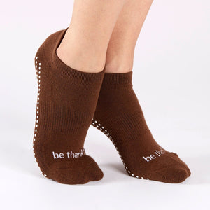 Sticky Be Be Thankful Chocolate White Grip Socks