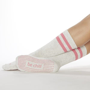 Sticky Be Crew Be Chill Oat Melon Grip Socks