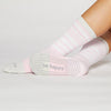 Sticky Be Be Happy Pink Stripe CREW Grip Socks