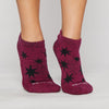 Sticky Be Be Bright Cranberry Grip Socks