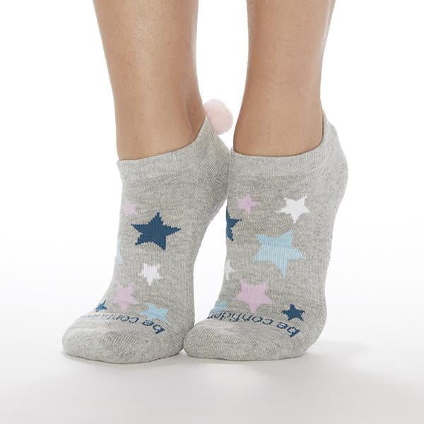 Sticky Be Be Confident Pom Pom Heather Stars Grip Socks