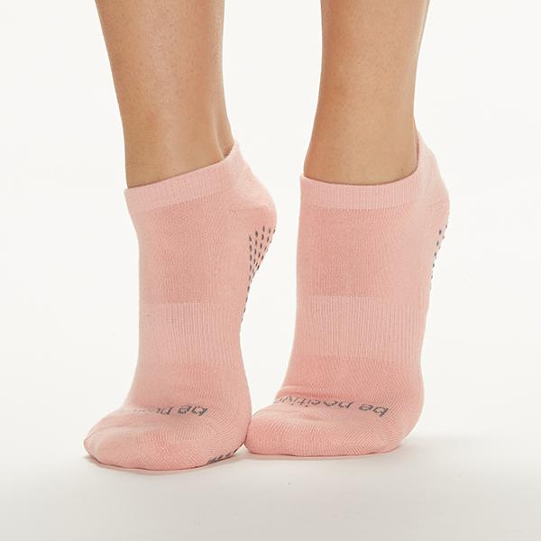 Sticky Be Be Positive Powder Grey Grip Socks