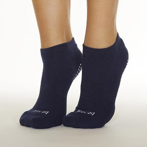 Sticky Be Be Real Navy White Grip Socks