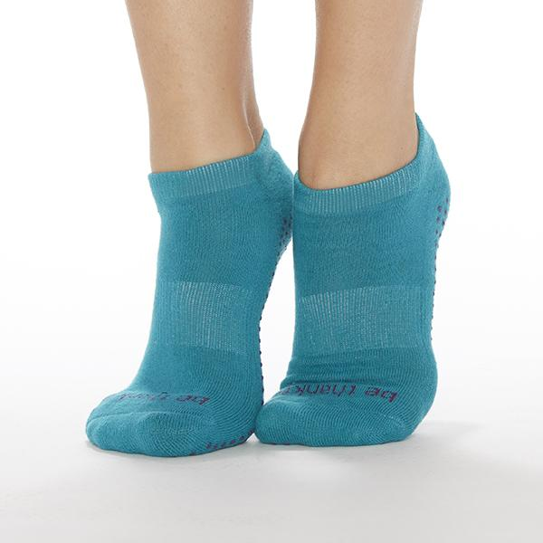 Sticky Be Be Thankful Ocean Navy Grip Socks