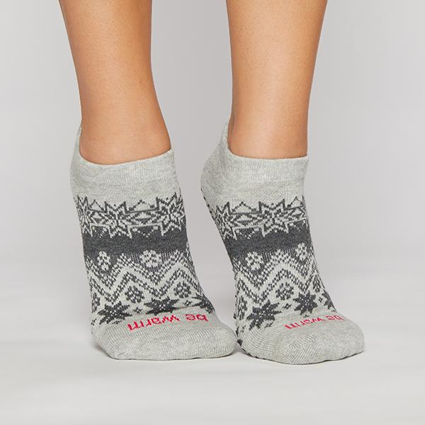Sticky Be Be Warm Grey Grip Socks
