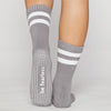 Sticky Be Be Fearless Dark Grey White CREW Grip Socks