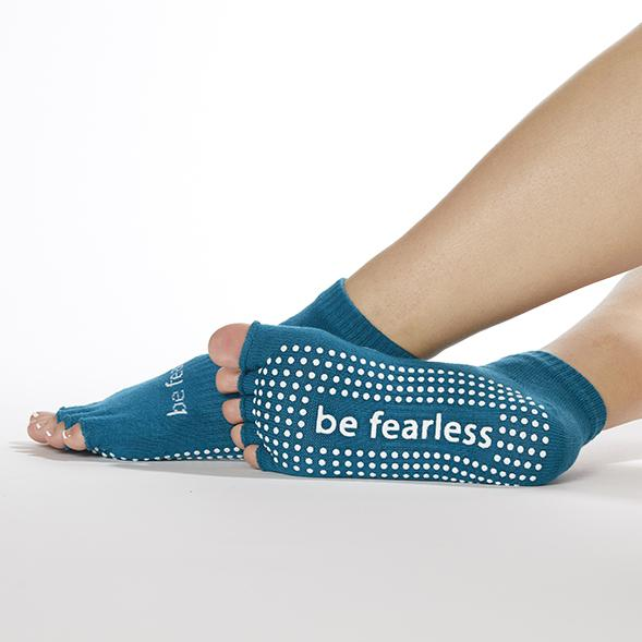 Sticky Be Be Fearless - Lagoon White Half Toe Grip Socks