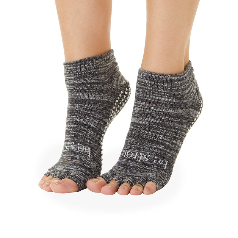 Sticky Be Be Strong Marbled Half Toe Grip Socks - Ash