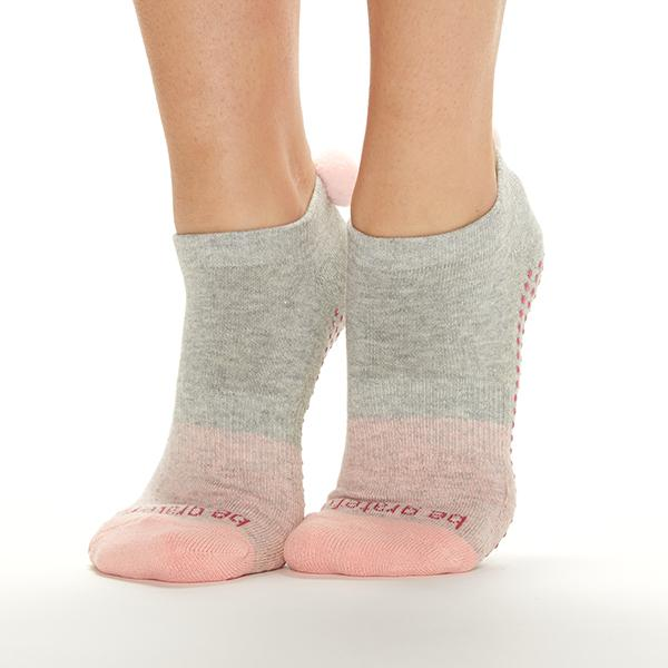 Sticky Be Be Grateful Paris POM POM Grip Socks