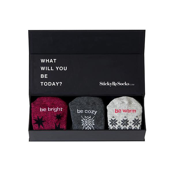 Sticky Be Holiday Gift Box (set of 3) Grip Socks