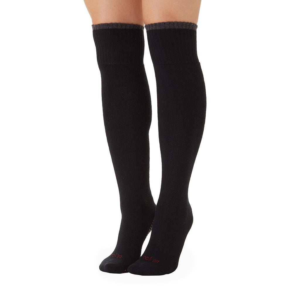 Sticky Be Be You Knee High Grip Socks Black Cranberry Charcoal
