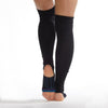 Be Positive - Black Teal Stirrup Grip Leg Warmers (Barre / Pilates)