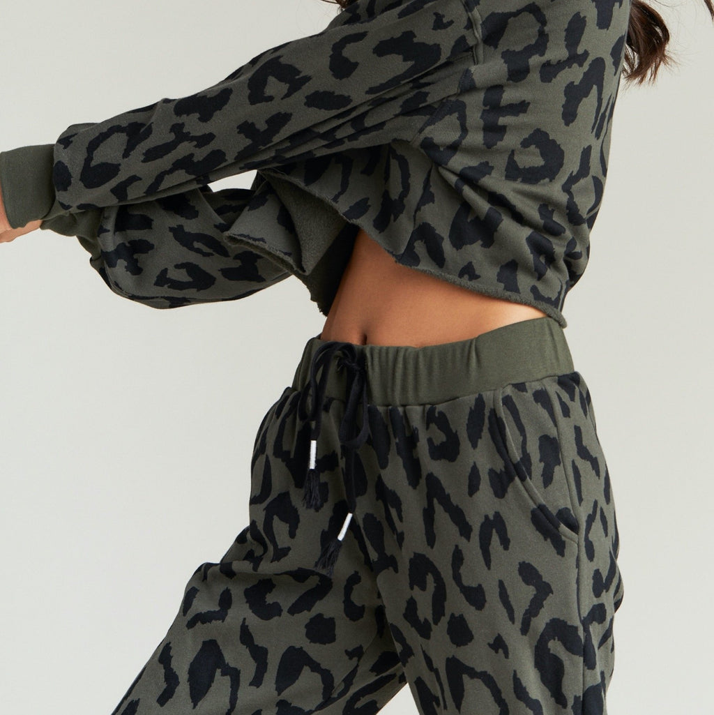 Strut This Olive Cheetah West Jogger