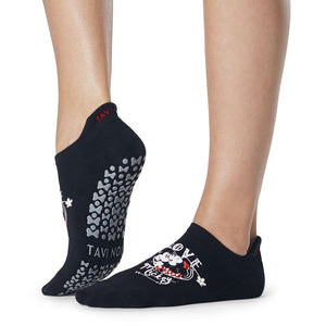 Tavi Noir Disney Savvy Mickie & Minnie Love Grip Sock