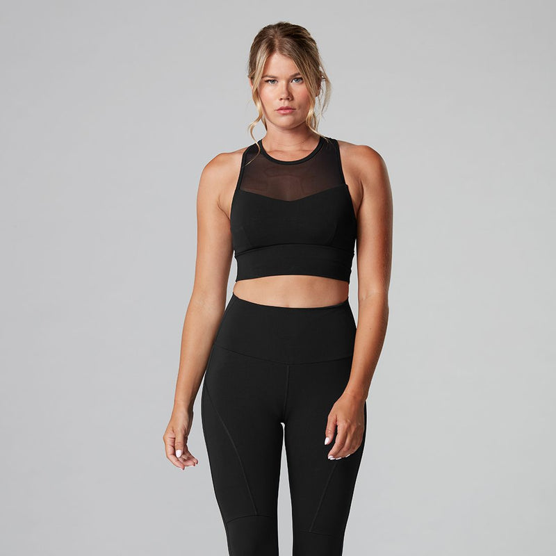 Tavi Noir Strappy Sports Bra - Ebony