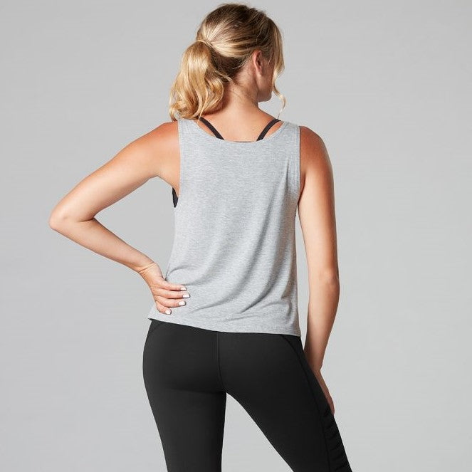 Tavi Noir Laser Cut Tank Top Heather Grey