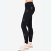 Terez Black Tonal Star Foil Uplift leggings